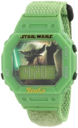 Star Wars Kids' 9005855 Star Wars Yoda Digital Wrap Strap Watch