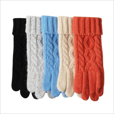 Women's Touchscreen Wool Knit Gloves
