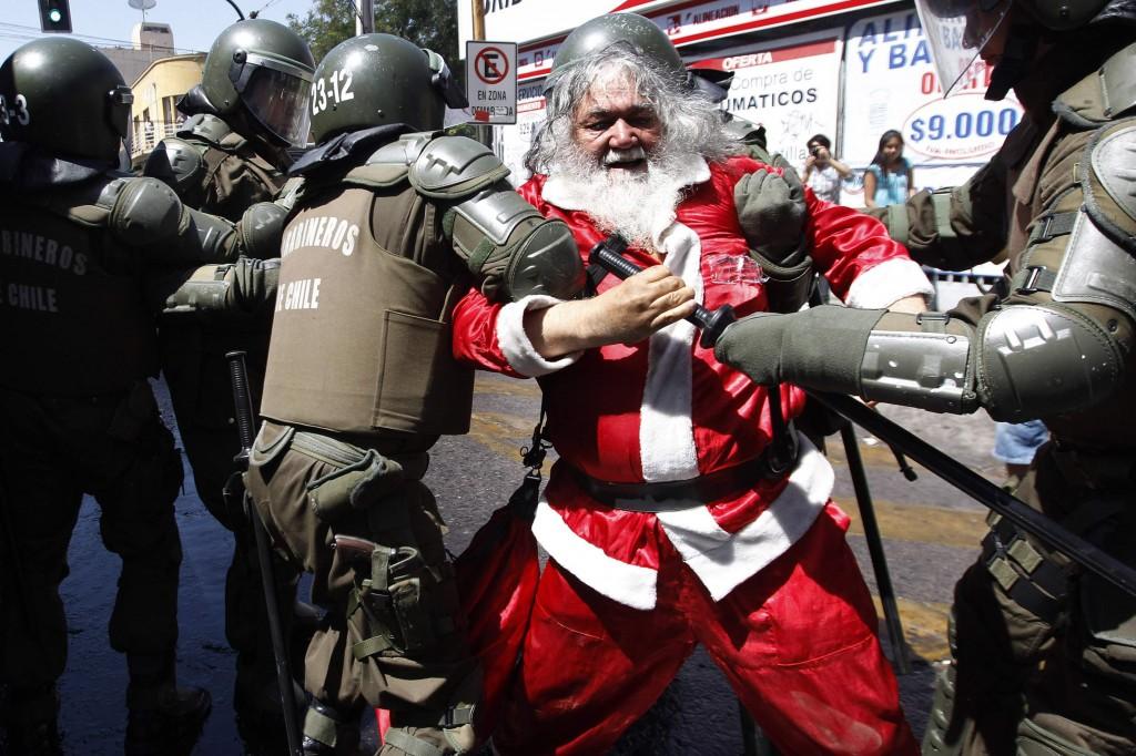 santa protesting