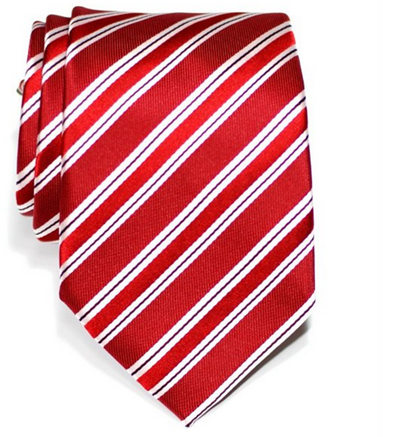 Retreez Preppy Stripe Pattern Woven Microfiber Men's Tie Necktie