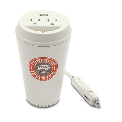PowerLine PowerCup 200/400 Watt Mobile Inverter with USB