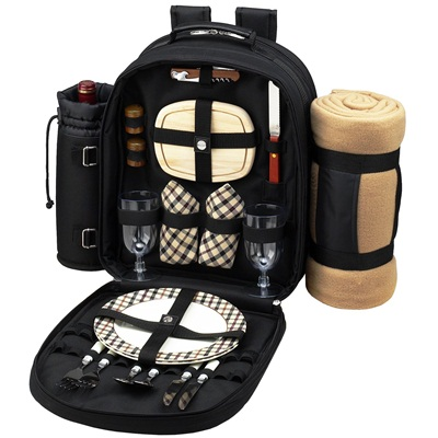 Picnic at Ascot London Backpack for 2 with blanket