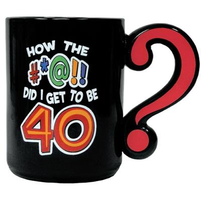 Laid Back C548V How the #at! Did I Get to be 40? Ceramic Mug