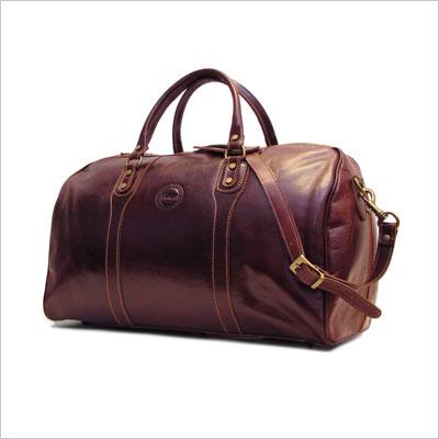 Brown Italian Leather Travel Bag
