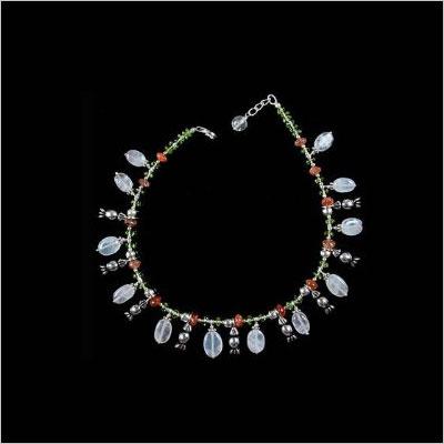 Gemstone Anklets Sterling Silver