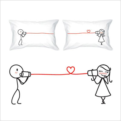 Say I Love You His & Hers Couples Pillowcases