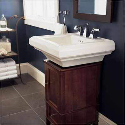 Town Square Pedestal Sink Faucet Spacing