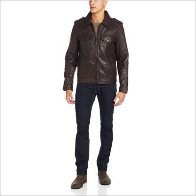 Two-Pocket Leather Moto Jacket