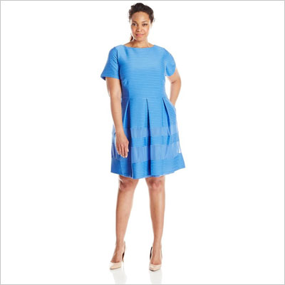 Women's Plus-Size Fit-and-Flare Dress