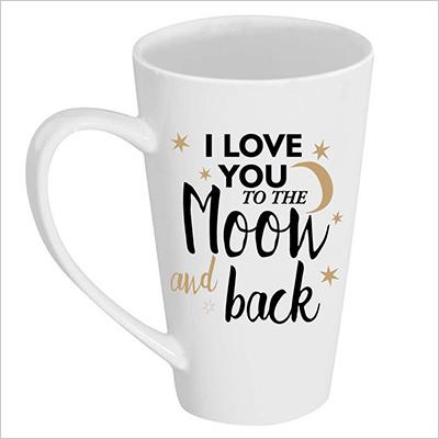I Love you white coffee mug