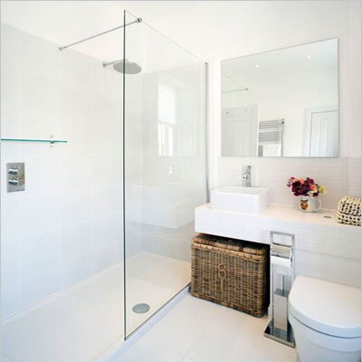 white small bathroom