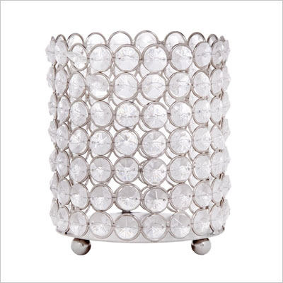 Acrylic Crystal Beaded Candle Holder