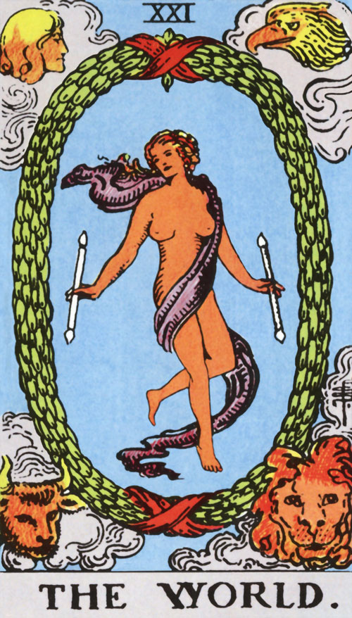 the-world tarot cards