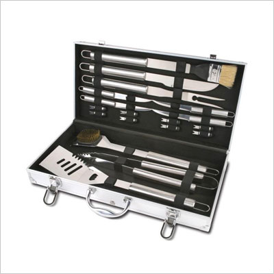 Stainless-Steel BBQ Set with Aluminum Storage Case