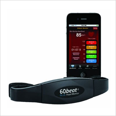 60beat BLUE Heart Rate Monitor for iPhone, Android and ANT+ devices