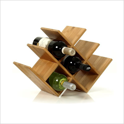 8 Bottle Tabletop Wooden Wine Rack