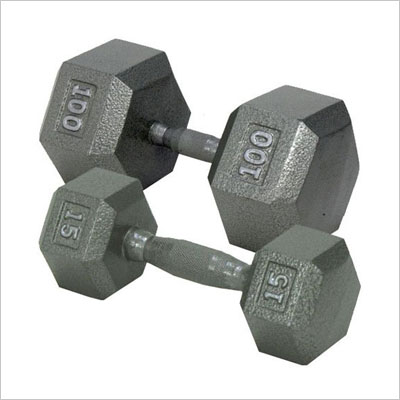 Champion Barbell Solid Hex Dumbbell