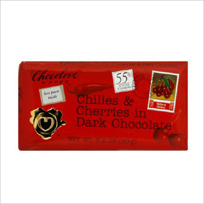 Chilies and Cherries in Dark Chocolate