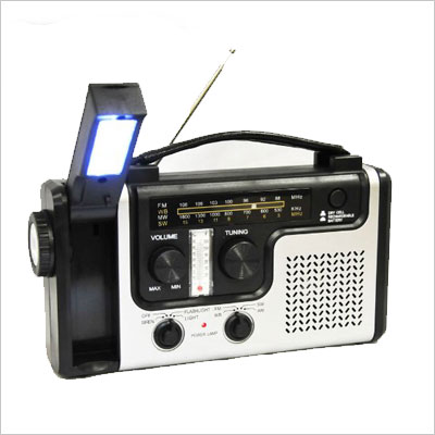 Emergency Solar Hand Crank Dynamo AM/FM/NOAA Weather Radio, Flashlight, Reading LED Light, Cell Phone Charger