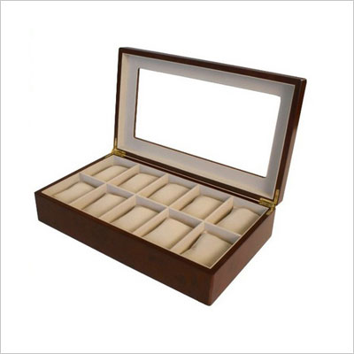 Watch Box for 10 Watches Cherry Matte Finish