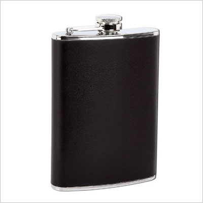 Inexpensive Engraved Stainless Steel Hip Flask with Gift Box