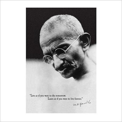 Mahatma Gandhi Political Poster Print
