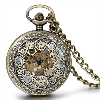 Mechanical Pocket Watch with Chain