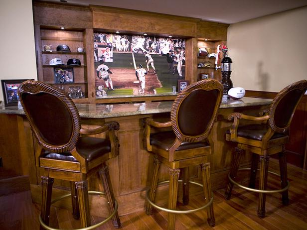 Sport decorated Bar for The Guys