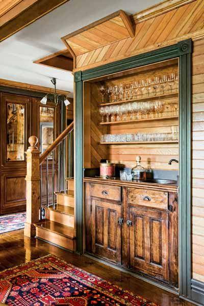 Built In Wooden Bar