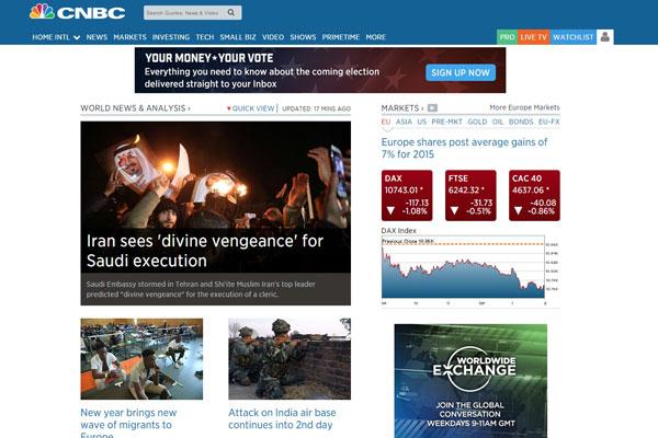 CNBC Business Website