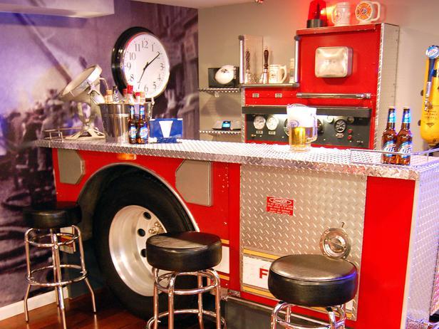 Firefighter Wet Bar