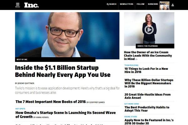 INC. Business Website