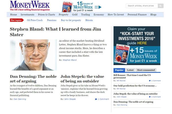 MoneyWeek Business Website