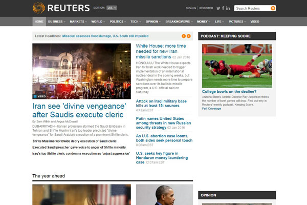 Reuters Business Website