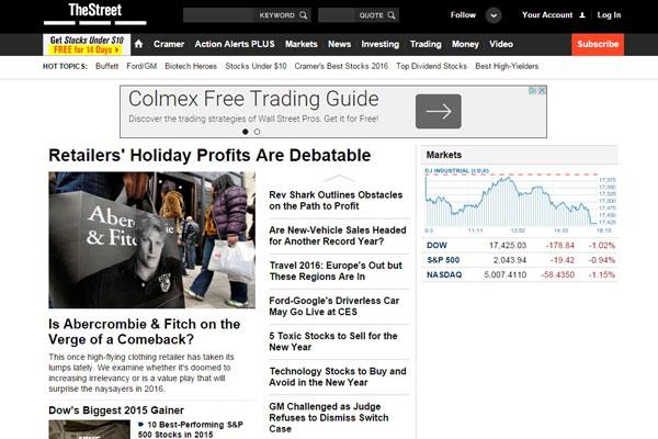 TheStreet Business Website