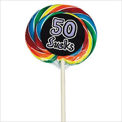 50 Sucks 50th Birthday Lollipop