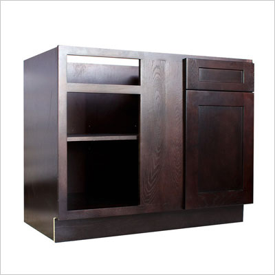 Base Blind Corner Cabinets, Cinnamon Shaker