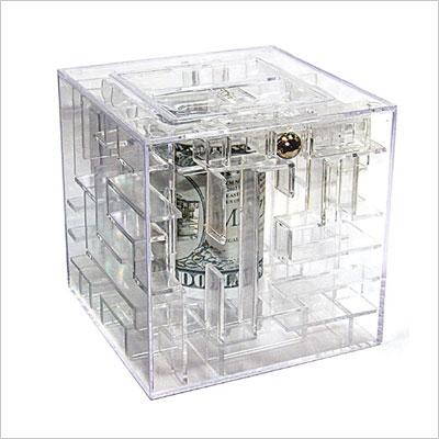 Money Maze Gift Box Bank