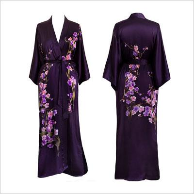 Women's Silk Kimono Long Robe