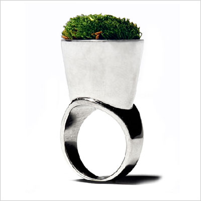Growing Jewelry Grass Ring