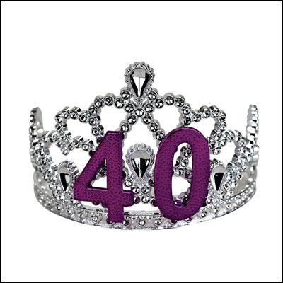 BigMouth Inc 40th Birthday Silver Tiara