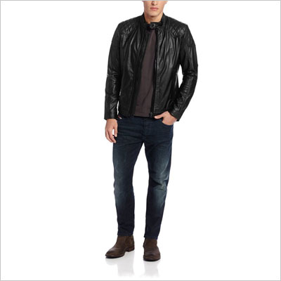 Diesel Men's Laleta Leather Jacket
