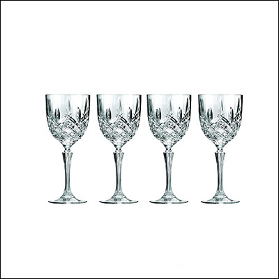 10 Great 40th Wedding Anniversary Gift Ideas Marquis by Waterford Wine Glasses, Set Of 4