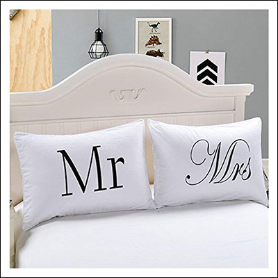 """10 Great 40th Wedding Anniversary Gift Ideas New BossCouples Pillowcases - """"Mr and Mrs"""""""