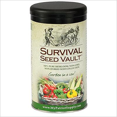 Survival seed vault 20 variety pack