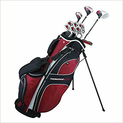 Prosimmon Golf DRK Mens RH Graphite/Steel Hybrid club set and stand bag