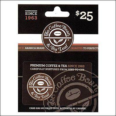 10 Great 40th Wedding Anniversary Gift Ideas The Coffee Bean & Tea Leaf Gift Card