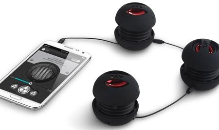 AYL Portable Mini Capsule Speaker System Rechargeable Battery black