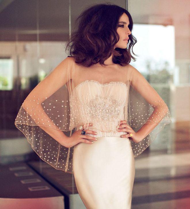 Zahavit Tshuba pearl embellished wedding gown