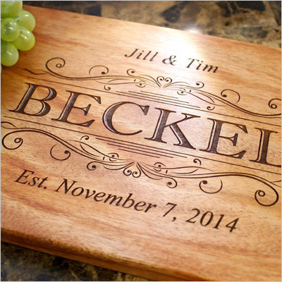 Classic Swirl Personalized Engraved Cutting Board
